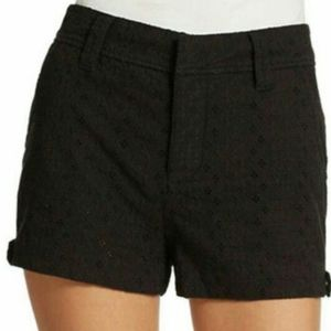 NWT Free People Black Eyelet Cotton Shorts Sz 4
